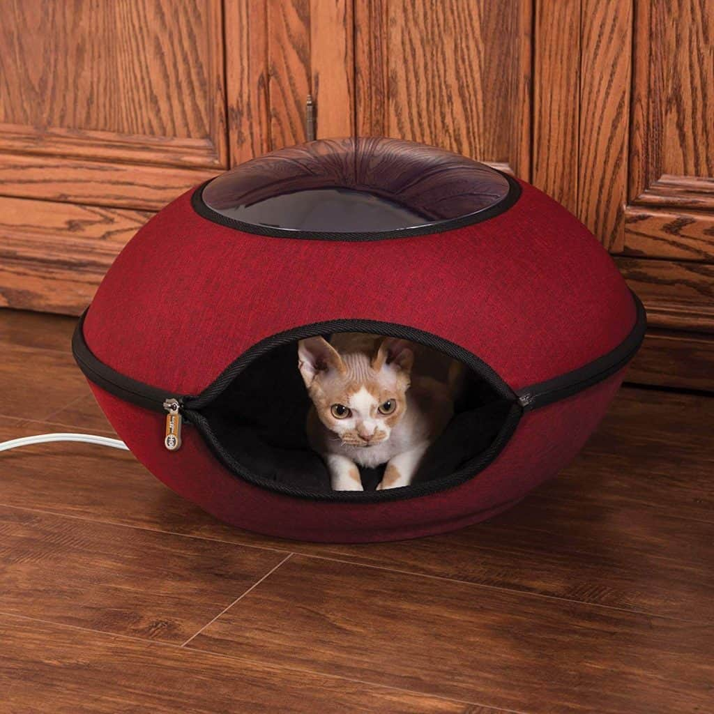 K&H Pet Products Thermo-Lookout Pod Heated Cat Bed