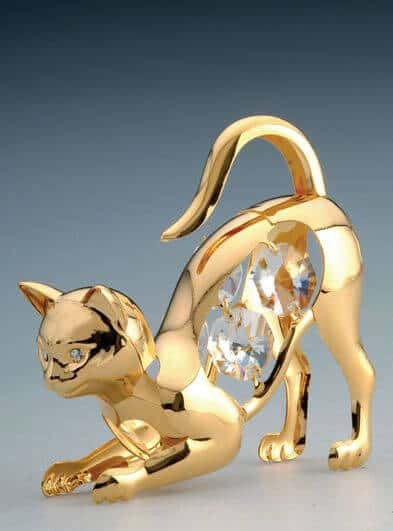 Crystal cat figurine