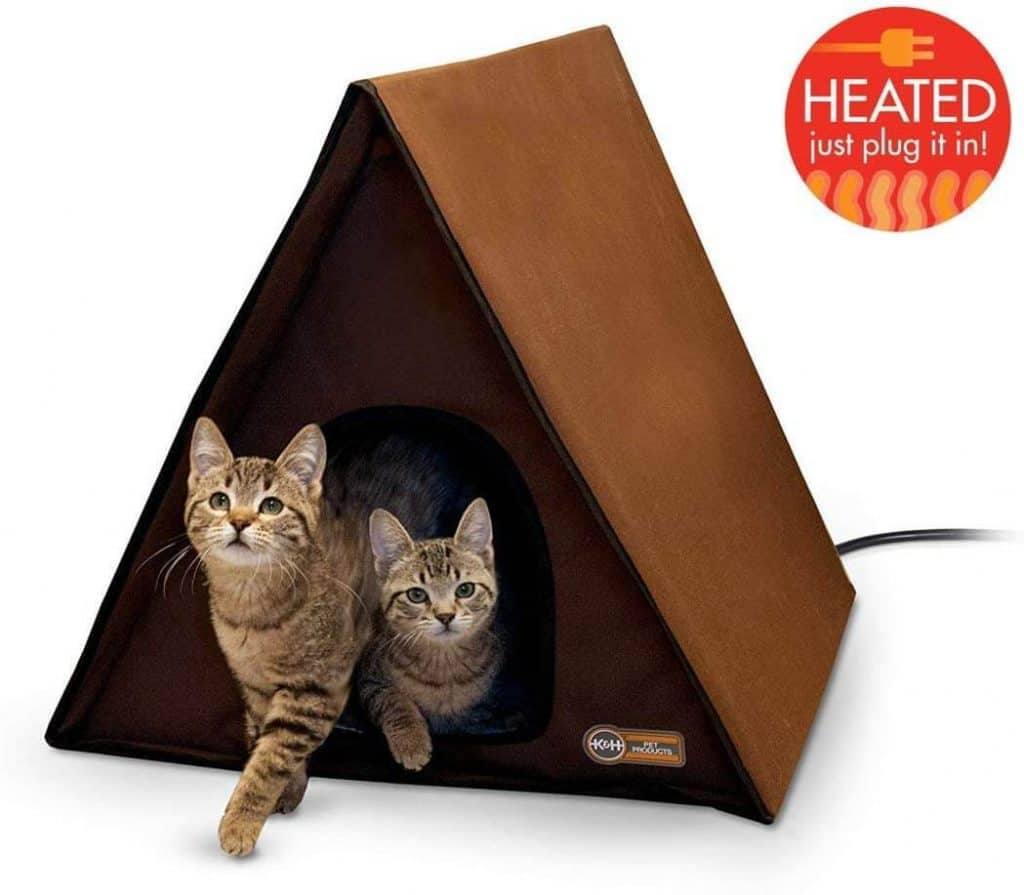 K&H A-Frame Multi-Kitty Outdoor Heated Kitty House