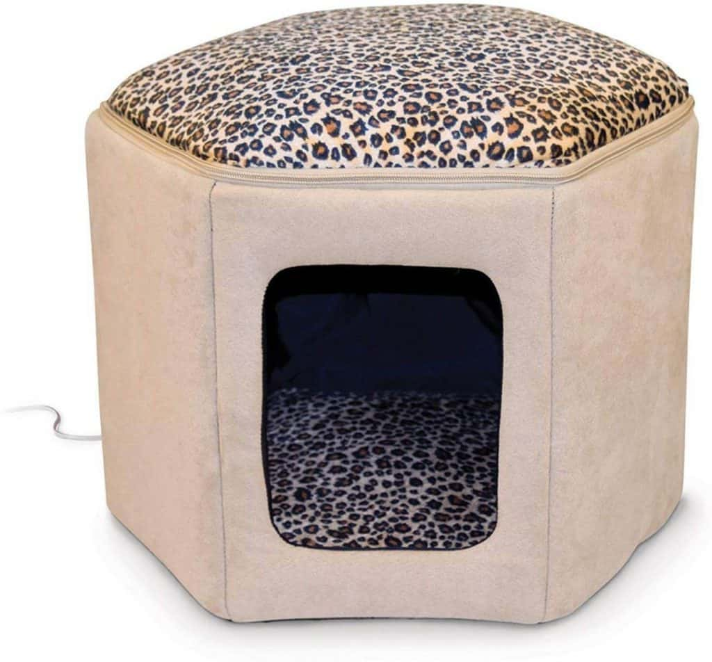 K&H Pet Products Leopard Kitty Sleephouse