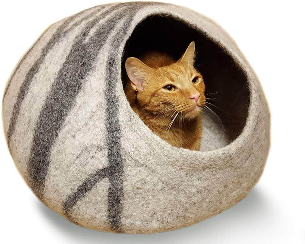 MEOWFIA Premium Eco-Friendly Cat Bed Cave