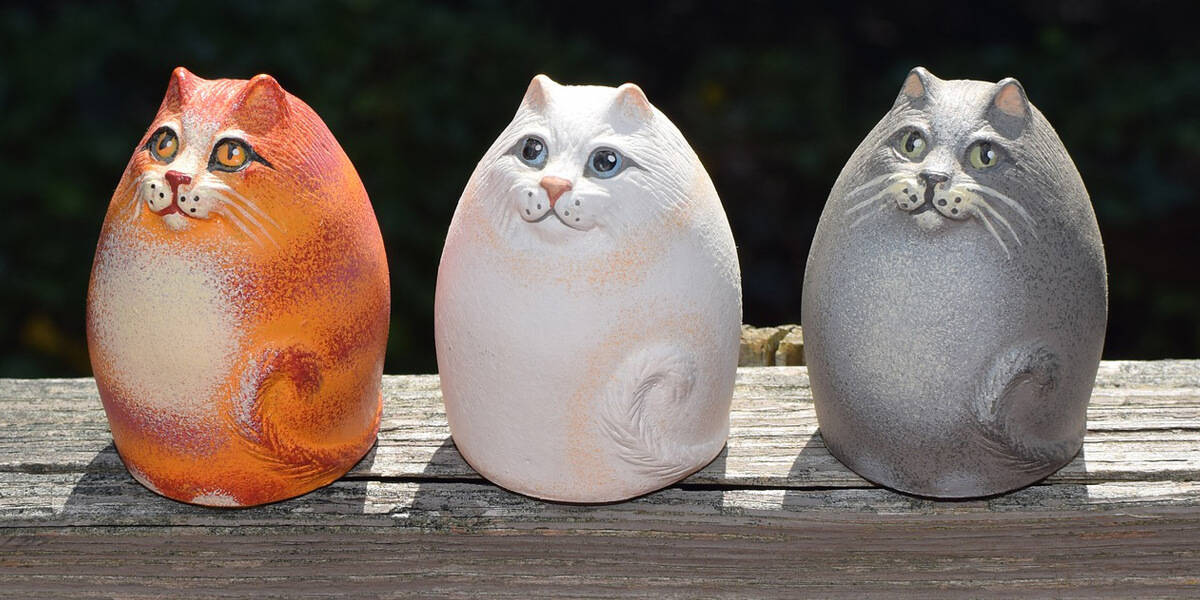 Cat figurines image round up
