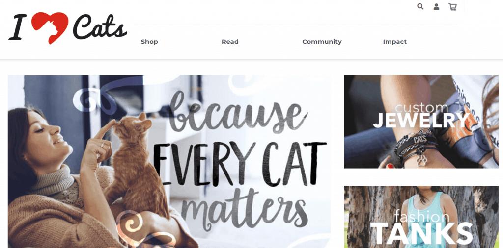 IHeartCats.com homepage