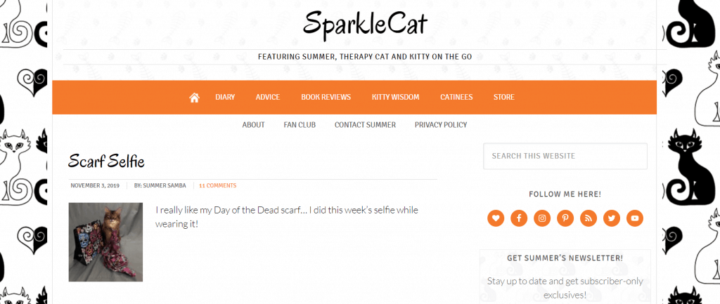 Sparkle Cat homepage