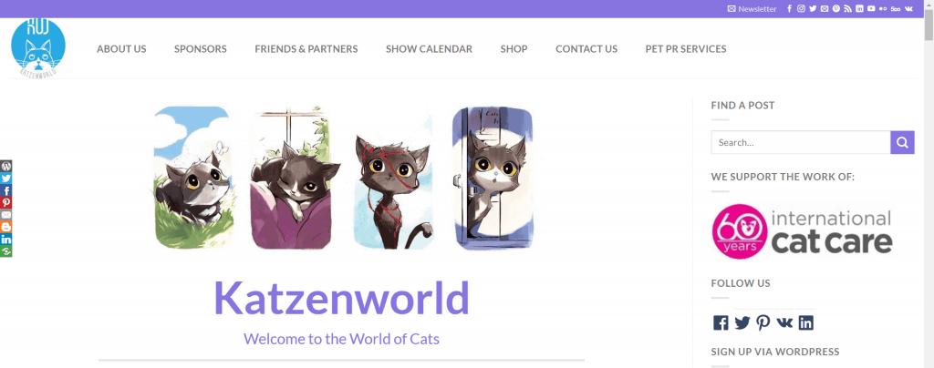 Katzenworld homepage