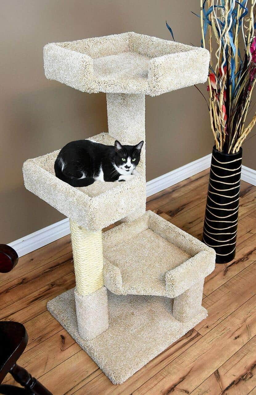 CozyCatFurniture 3 Tier Cat Tree for Large Cats