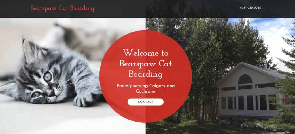 Bearspaw Cat Boarding website