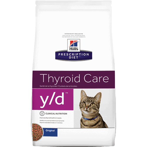 Hills Prescription Diet Y/D Feline Thyroid Health Dry Cat Food