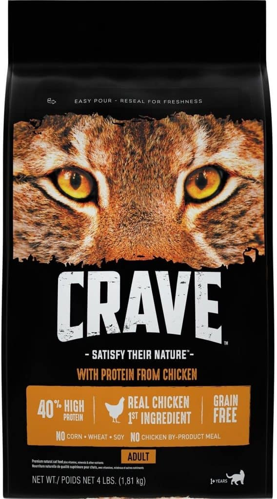 CRAVE Grain Free High Protein Dry Cat Food – Best Budget Choice