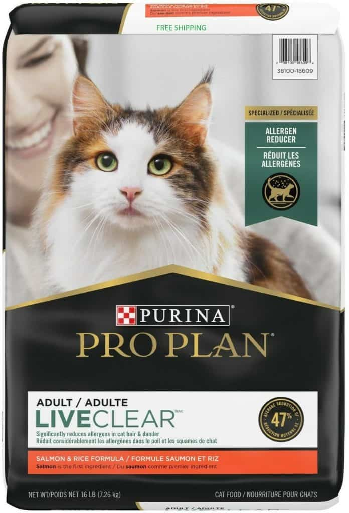 Purina Pro Plan Allergen Reducing Adult Dry Cat Food – Best Overall
