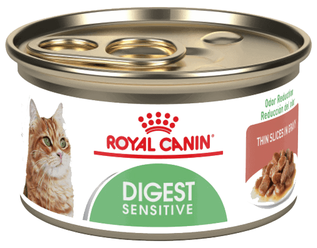 Royal Canin Feline Health Nutrition Digest Sensitive Thin Slices in Gravy Canned Cat Food – Runner Up